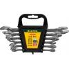 Набор EXPERT: Ключ гаечный рожковый, Cr-V сталь, хромированный, -8-19мм, -6шт Kraftool