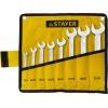 Набор: Ключ PROFI гаечный рожковый, Cr-V сталь, хромированный, -6-24мм, -8шт (37971) STAYER