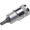Торцевая бита-головка INDUSTRIE QUALITAT материал S2, TORX, сатинированная, -1/2 Т30 Kraftool