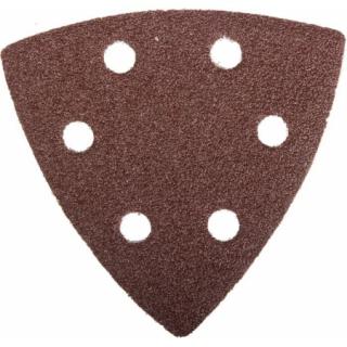 Треугольник шлифовальный МАСТЕР универсальный на велкро основе, -6 отверстий, Р80, -93х93х93мм, -5(шт) Зубр