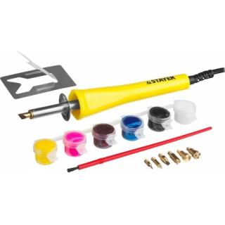 Прибор MASTER для выжигания с набором насадок -7(шт)и красками STAYER
